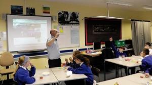 5135 Dinnington teacher and his class