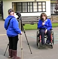 5114 Newman Special School students filming
