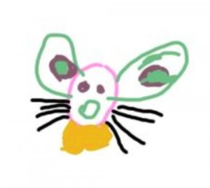 5152 childs iPad drawing of a mouse